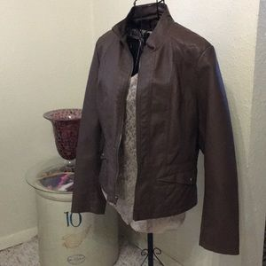 Giacca Chocolate brown Large new like jacket poly